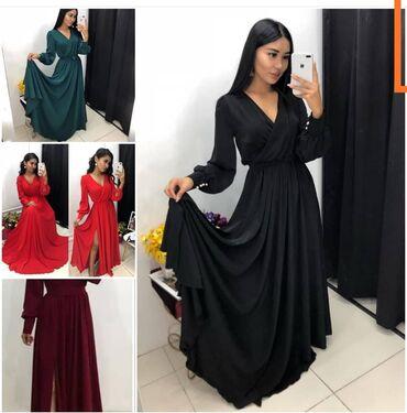 вечернее платье шелк в Кыргызстан: Платье шикарное цвет изумрудразмер на 44_46 итальянский шёлк