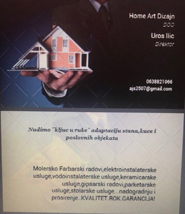 HomeArtDizajn UNTARN Kompletna adaptacija kuce,stanove,poslovnih objek - Beograd
