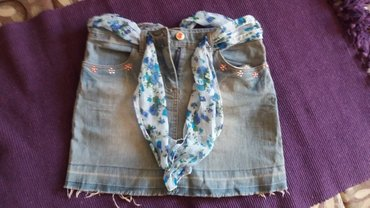 Only pantalone tj - Srbija: Texas suknja sa maramom,veoma malo nosena,br 140 tj 10