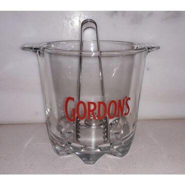 Παγοδοχείο Gordon's με λαβίδα, σε άριστη κατάσταση  Διάμετρος 15 εκατ