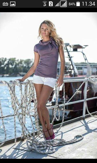 Majica na vezivanje kod vrata ginna fashion velicina univerzalna samo - Backa Palanka