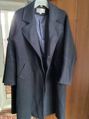 Шикарное пальто темно-синего цвета на осень и весну. Пальто качественн