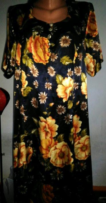 Атласное платье для дома в хорошем сост. 48р. в Бишкек