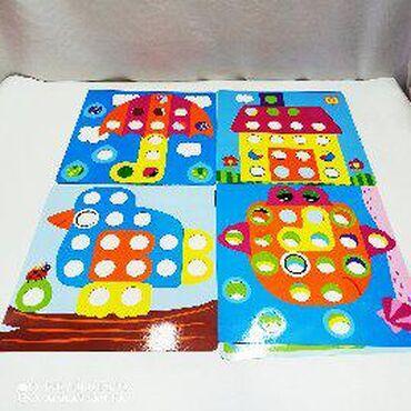 Детская мозаика с кнопками - превосходные творческие занятия с