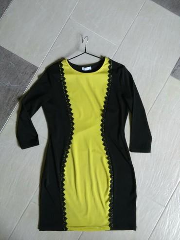длинные шифоновые платья с рукавами в Кыргызстан: Платье, рукав 3/4, длина 86, размер европейский М/L, хорошо тянется