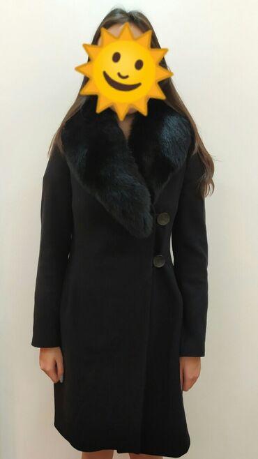 Пальто - Размер: M - Бишкек: Пальто в отличном состоянии. Мех натуральный. Мех снимается. Отлично