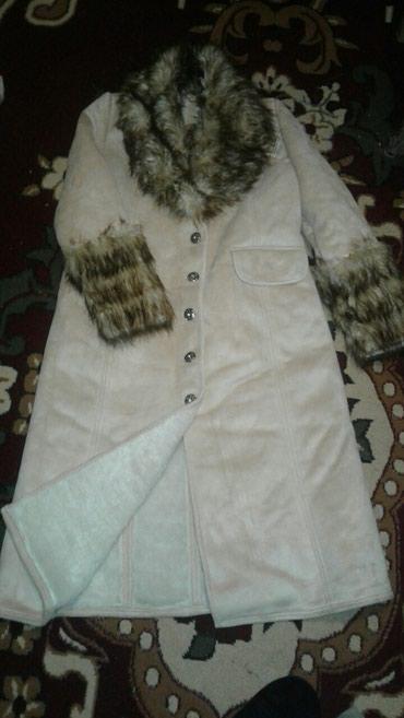 Дубленка теплая. Состояние новой. Одели 1 раз. Размер 48-50 в Бишкек