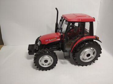 Коллекционная модель трактора YTO X804:Корпус металлический. Размеры