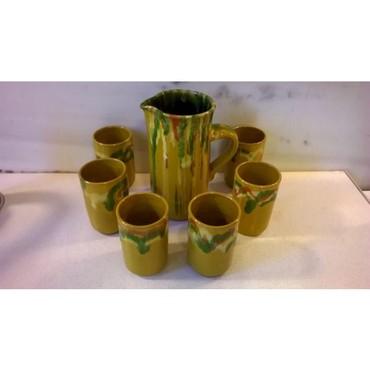Κεραμική κανάτα με 6 ποτήρια ( 1970 ) σε σε Athens