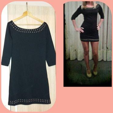 Crna mala haljinica sa nitnama,rukavi tri cetvrt. - Novi Sad