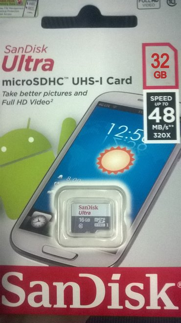 Bakı şəhərində 32gb yaddaş kartı. Originaldır. Telefon,fotoaparat,videoregistrator