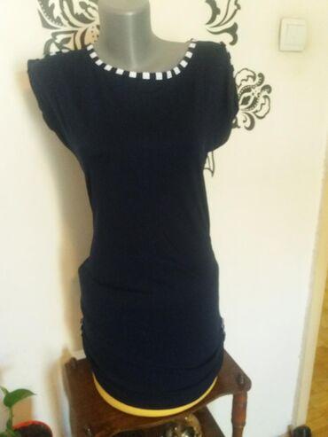 Ženska odeća | Mladenovac: Letnja haljina. Mornarska kombinacija. Tamno teget boja.Nova. Nikad