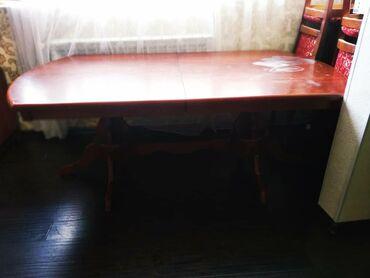 стол и стулья для гостиной в Кыргызстан: СРОЧНО!!!СРОЧНО!!! Продаю стол гостиный раздвижнойЦвет