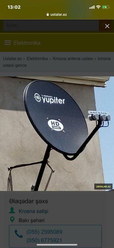 TV/video üçün aksesuarlar Mingəçevirda: Krosna peyk antenalarin sifarishi(rayonlarda)
