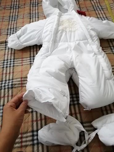 Верхняя одежда в Каракол: Детский зимний комбинезон универсальный как на мальчика так и на