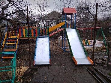 платья для мамы и дочки на новый год в Кыргызстан: Детские горки! Блочная двух скатная горка! Разноуровневые скаты!