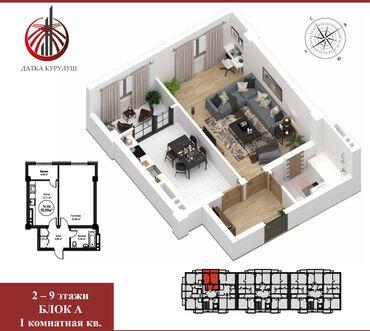Продажа квартир - Бронированные двери - Бишкек: Продается квартира: Элитка, Асанбай, 1 комната, 52 кв. м