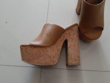 Ženska obuća | Backa Palanka: Sandale na plutu kombinacija sa kozom Primadonna kao nove brojevi 37 i