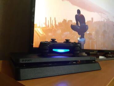 sony наушники в Кыргызстан: Sony Playstation 4 slim black 500gb (PS4) Состояние отличное, покупал