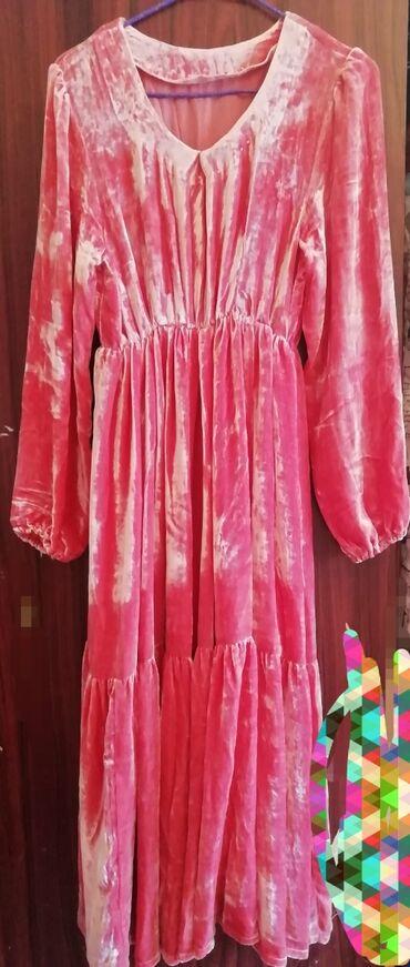 хб платье в Кыргызстан: Очень красивое платье, ткань панбархата 100% хб. Фасон модный на любую