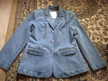 Продаю джинсовый пиджак совершенно новый размер xxl покупали в подарок