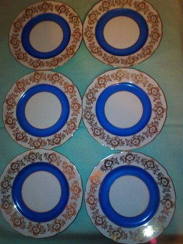 Set od 6 tacni za tortu, cehoslovacki porcelan - Pozarevac