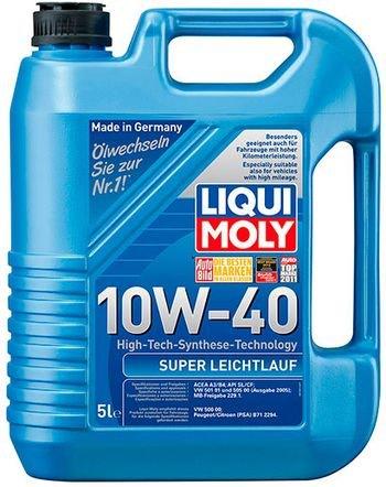 "Mühərrik yağı ""LIQUI MOLY 10W-40 SUPER LEICHTLAUF 5L""  LIQUI MOLY 10W-"