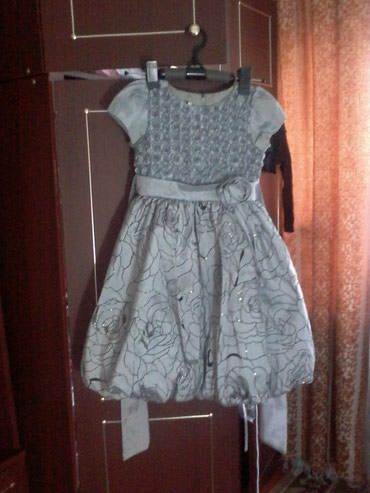 Платье серое с сердечками, моделька в Бишкек