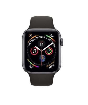 Apple watch 4 GPS серый космос; новый в Бишкек