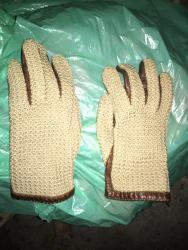 Elegantne rukavice sa pravom kozom s donje strane.M/L