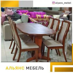 кухонный стол стулья в Кыргызстан: Столы и стулья в комплекте в рассрочку мебель в займ,мебельный