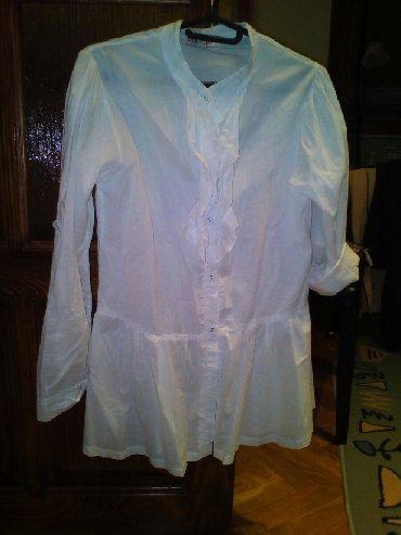 Ostala dečija odeća | Pozarevac: Bela duga kosulja, mogucnost podvijanja rukava, ruska kragna, broj 16