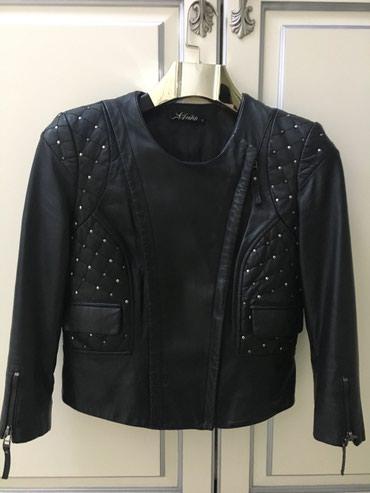 Кожаная курточка со вставками из металлических заклепок, размер S,M в Бишкек