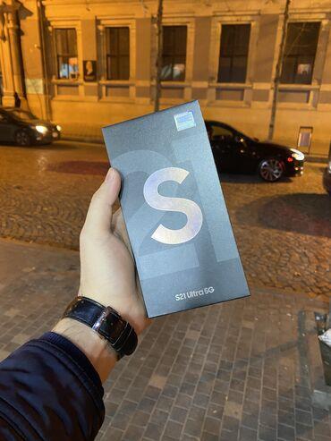 Мобильные телефоны и аксессуары - Азербайджан: Samsung Galaxy S21 Ultra | 256 ГБ | Черный | Гарантия, Отпечаток пальца, Беспроводная зарядка