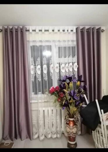 ролл шторы бишкек in Кыргызстан   ШТОРЫ И ЖАЛЮЗИ: Продается 2 комплекта штор,подойдёт для зала, спальни, в комплекте кар