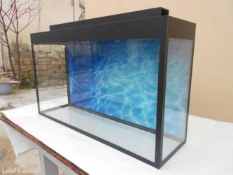 Bakı şəhərində Teze akvarium uzunu 70sm hundurluyu45 sm eni 20sm