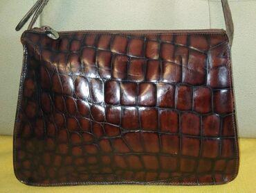 Furla - kožna vintage torba Prelepa manja torba, skupocenog i