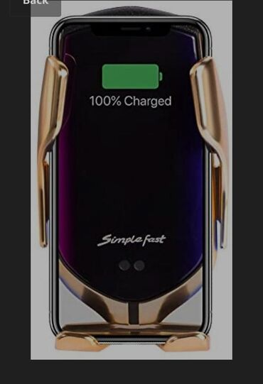 Держатель для вашего телефона автоматический с беспроводной зарядкой