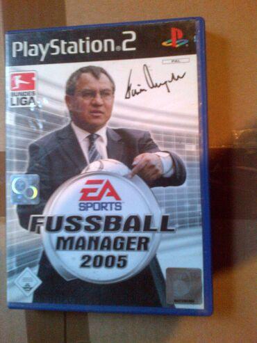 Sales manager - Srbija: FUSSBALL MANAGER 2005 =playStation 2=ispravne su testirane juce stigle