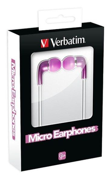 Verbatim mikro slušalice (bubice) bele boje sa gumicama u tri - Nis