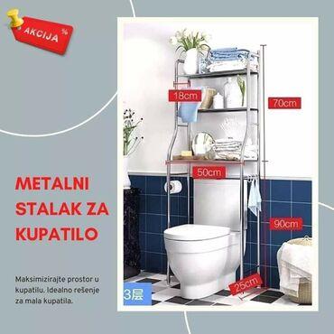 Masina za ves - Srbija: Metalni stalak za kupatiloIdealno rešenje za mala kupatila!Samo 2499