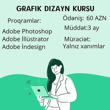Dərslər təcrübəli grafik dizayner tərəfindən keçirilir.Həm Azərbaycan