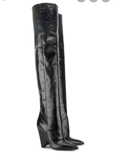 шикарное маленькое черное платье в Кыргызстан: Ботфорты IlVi кожаные, деми. Размер 39. Абсолютно новые. Брала на