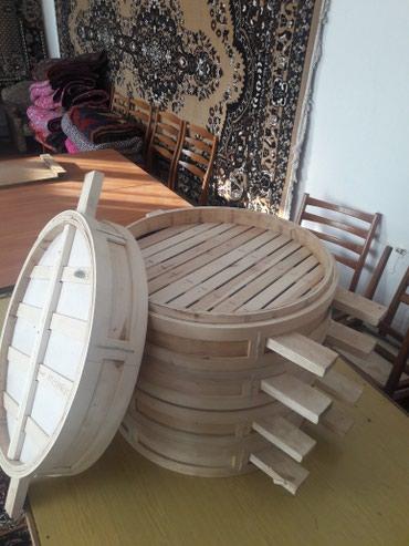 Кухонные принадлежности в Токмак: ПРОДАЮ мантышницы деревянные 4шт