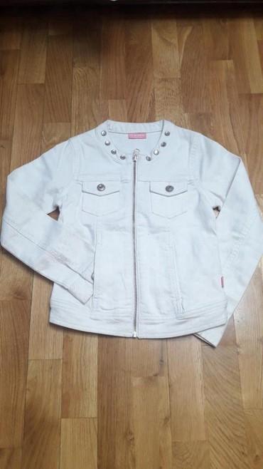 Snezno-bela - Srbija: Bela teksas jakna sa za devojcice WAIKIKIsa cirkonima Sastav: pamuk sa