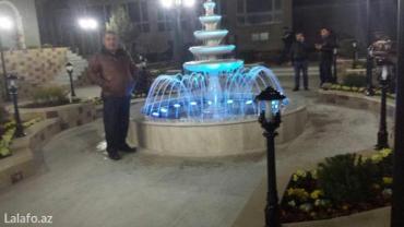 Bakı şəhərində Sifarişlə fontan tikinti tiktiyimiz fontanın görüntüsü