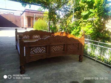 Садовая мебель в Кыргызстан: Продаются топчаны ручной работы из карагача. Размеры Размер 3 на 2.50