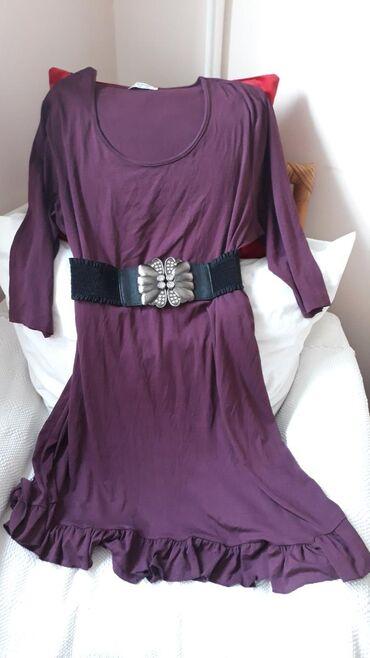 PRELEPA viskozna haljina boja sljive vel.3XLTURKEY Prelepa haljina o
