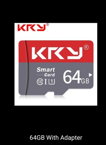 micro-sd - Azərbaycan: 64 GB Mikro kard SD - 100 % Orijinal / KRYMicroMikroCardKardSDTel