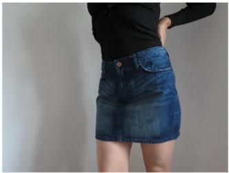 Teksas suknja - Srbija: H&M teksas suknja M velPrelepa teksas suknjica sa strane vez sa